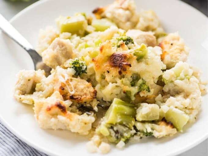 Keto Chicken Casserole With Cauliflower And Broccoli